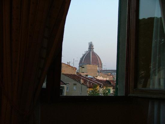 Hotel Caravaggio: Looking out our Window at Caravaggio