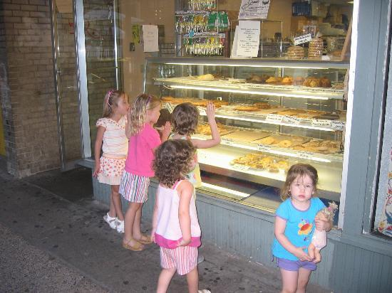Madison, WI: A lively place to visit for all ages! Here's one of the bakeries on State Street.
