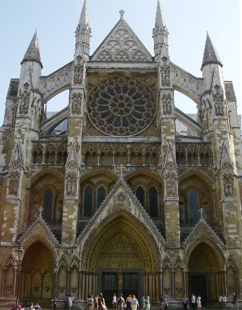 Londen, UK: Rose Window of Westminster Abbey