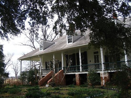Natchez, Луизиана: Main House at Oakland Plantation