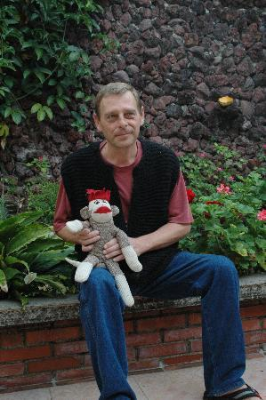 Casa Girasol: Owner attends to all Sock-monkey's needs