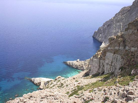 Folegandros, Griechenland: View from the balcony of our room