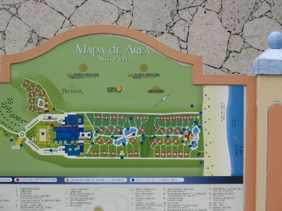Site plan map of Bahia Resort - Picture of Grand Bahia Principe