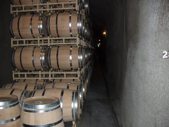 Rutherford Hill Winery: barrels