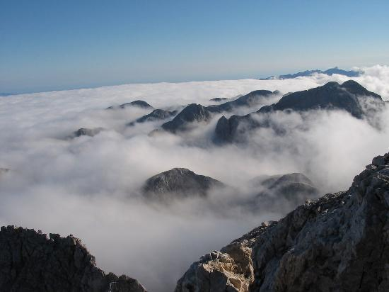 Triglav National Park: above the clouds