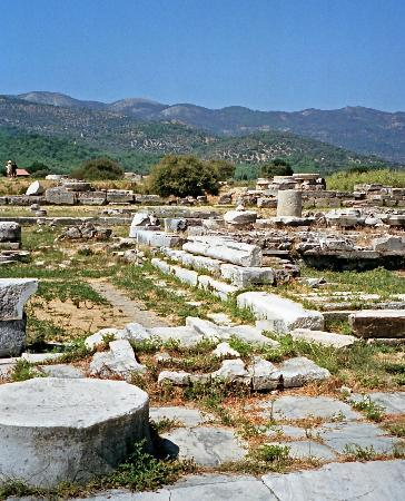 Pythagorion, Grecia: Overview of the Heraion area