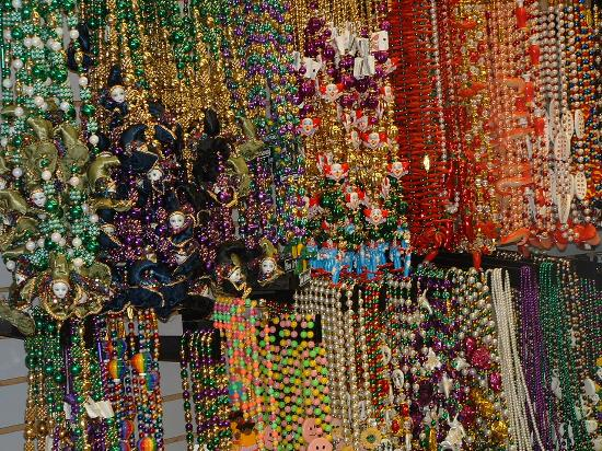 Nova Orleans, LA: Mardi Gras Beads at a Bourbon St. Shop