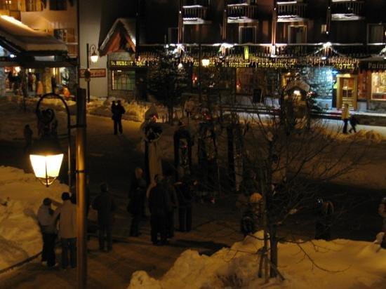 Hotel Kandahar: Thursday night parade in main street from balcony.