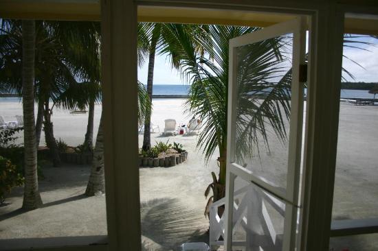 Turneffe Island Resort: Looking to beach from cabana