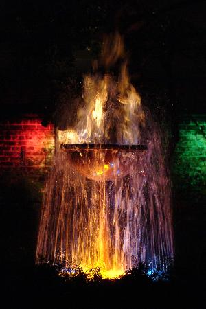 New Orleans, LA: Fountain - night