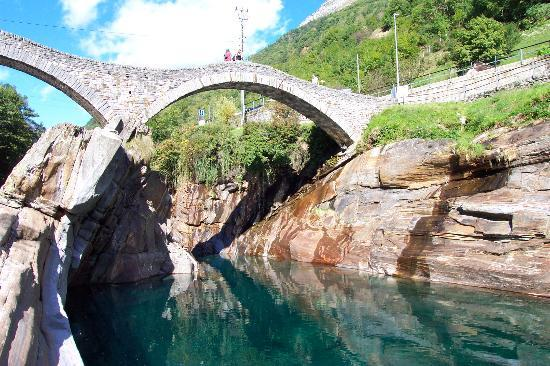 Ascona, Switzerland: An old Roman? bridge in Verzasca Valley
