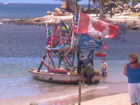 Windjammer Landing Villa Beach Resort: The fruit seller