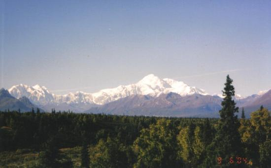 Denali: we were lucky enough to enjoy some clear days with McKinley - Sep 2004