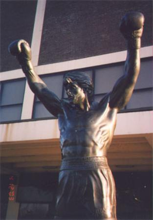 Rocky Statue: right from the movie