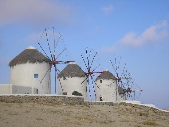 Mykonos, Greece: Windmills