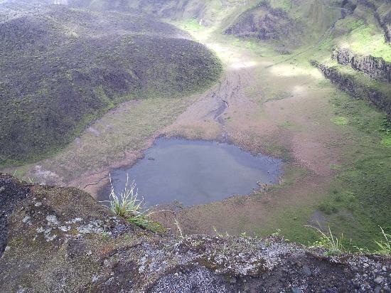 La Soufriere Cross Country Trail: This tiny puddle is all that remains of the crater lake