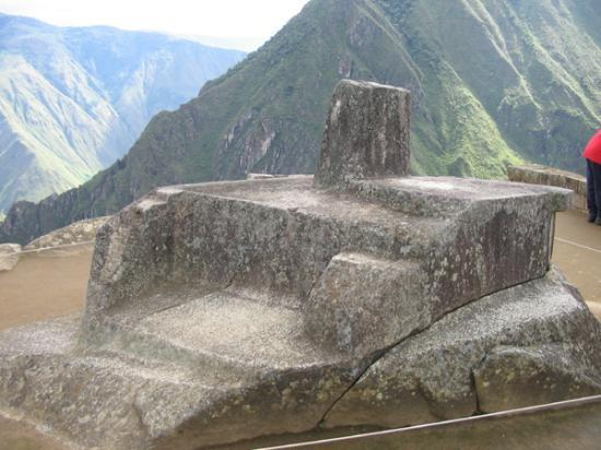 Intihuatana Stone: The Intihuatana at Machu Picchu