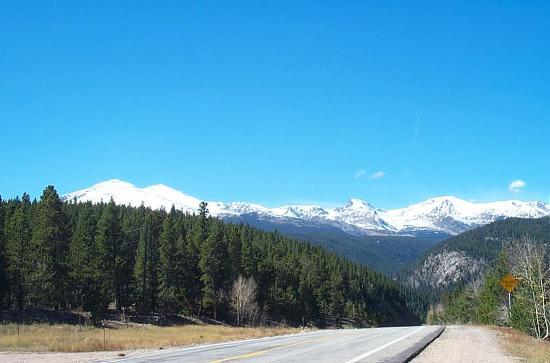 Peak to Peak Scenic Byway: Snow Capped Mountains