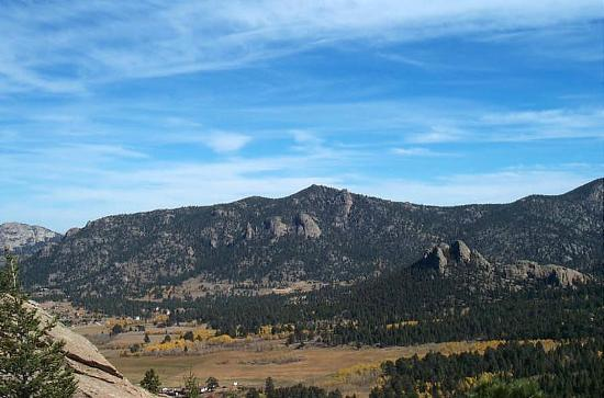 Peak to Peak Scenic Byway: View near Estes Park