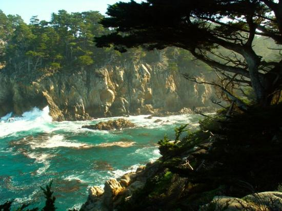 Carmel, Californië: View of the bluffs from Cypress Cove