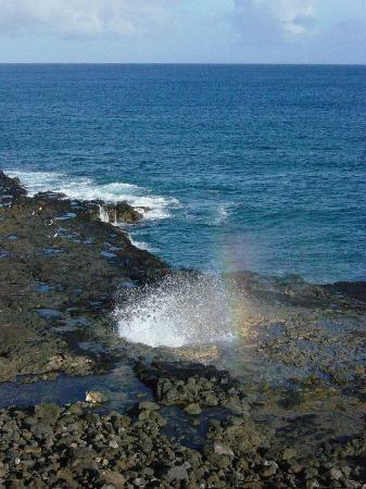Poipu, HI: Spouting Horn - South Shore Kauai
