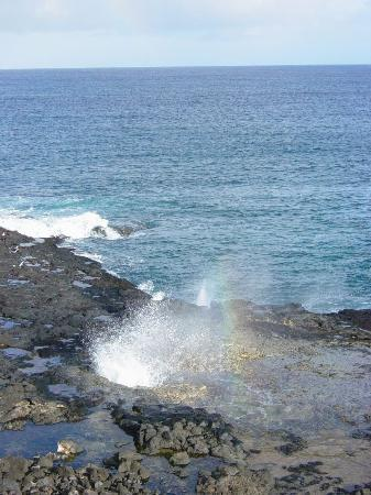 Poipu, HI: Spouting Horn - South Shore Kauai