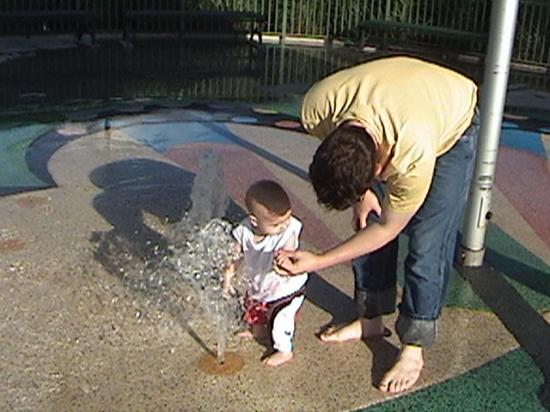 Winton Woods Park : My husband and son enjoying the park