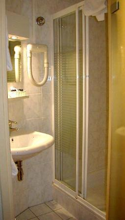 Hotel Amsterdam - De Roode Leeuw: Sink/shower (toilet in separate room)