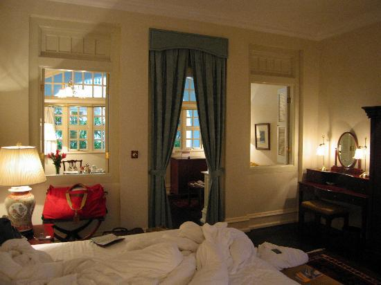 Raffles Hotel Singapore: looking from the bedroom towards the verandah