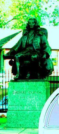 Bloomsbury: Statue of Thomas Coram by Brunswick Square
