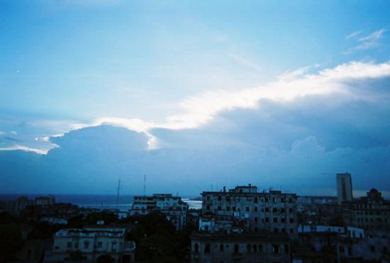 Hotel Colina: View of the Hurricane rolling in over Havana.