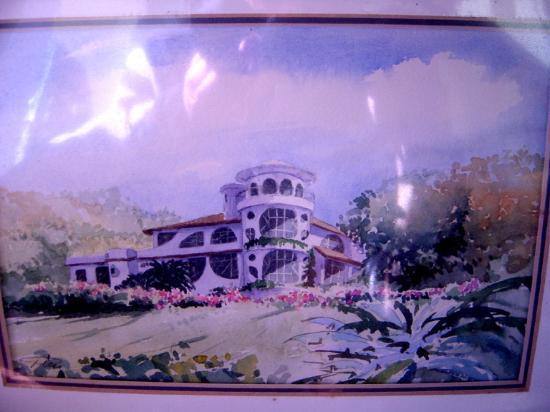 Finca Rosa Blanca Coffee Plantation & Inn: Watercolor of main building