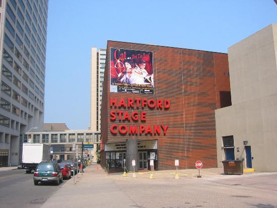 The Hartford Stage on Church Street between Main & Trumbull Streets