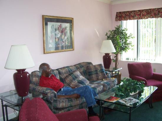 Waterside by Spinnaker Resorts: Daddy in Livingroom Sleep after trip to Lady & Sons in Sav. GA