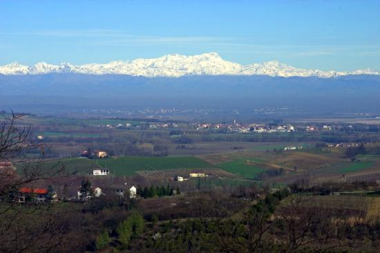 Piedmont, İtalya: A view of the Alps!