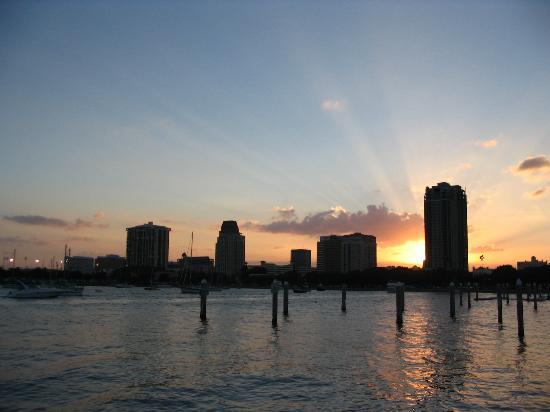 St. Petersburg, FL: Downtown at Sunset