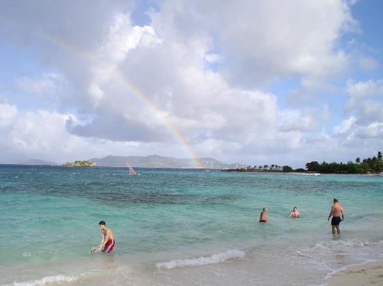 Crystal Cove Beach Resort on Sapphire Bay: Rainbow on the Beach
