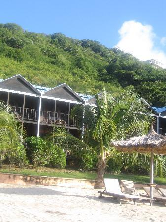 Tamarind Beach Hotel & Yacht Club: Accommodation viewed from the edge of the sea
