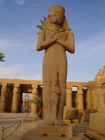 Luxor, Egypt: Ramses II statue in Karnak Temple