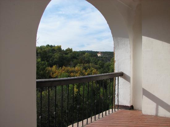 Monasterio de Piedra: balcony view
