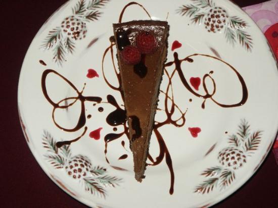 Piney Hill Bed & Breakfast: Chocolate Raspberry Truffle Cheescake