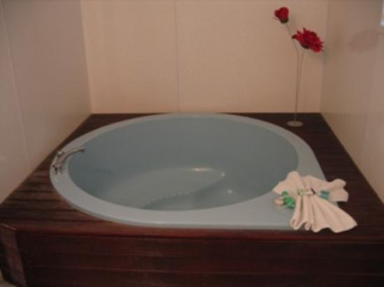 ASURE Palm Court Rotorua: spa tub