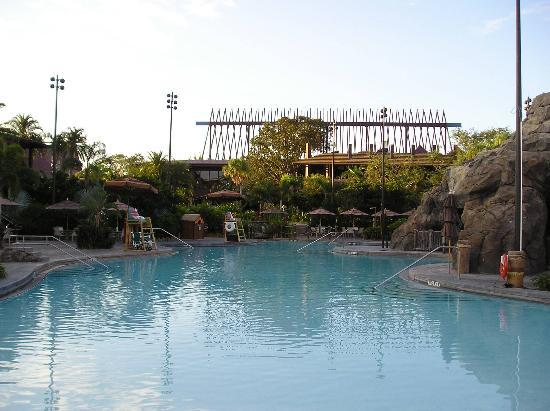 The luau dinning and show area picture of disney 39 s for Pool show orlando