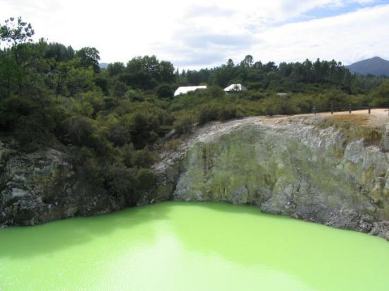 Rotorua, New Zealand: green pool