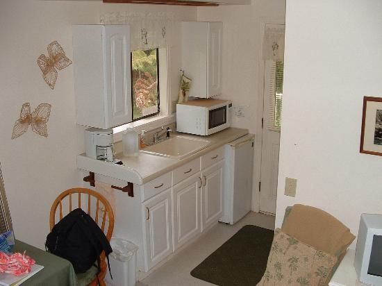 Volcano Cedar Cottage: kitchenette