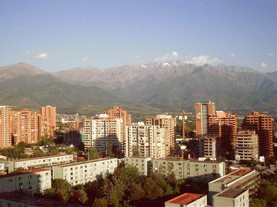 Santiago, Chile: the mountains around the city