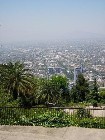 Santiago, Chile: view from Cerra San Cristobal