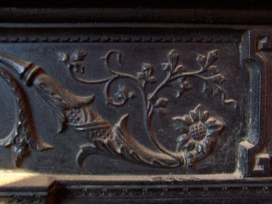 Old Monastery Hostel: Original fireplace detail