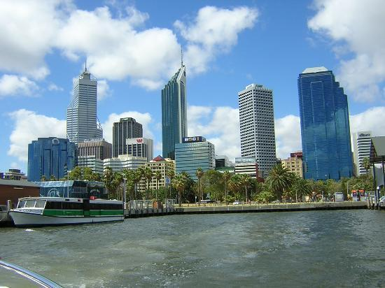 Västra Australien, Australien: perth  from the swan  river