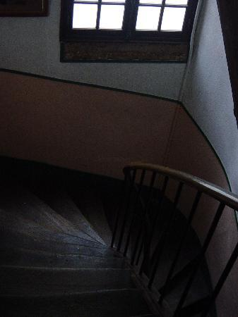 Hotel Stella: Old wooden steps